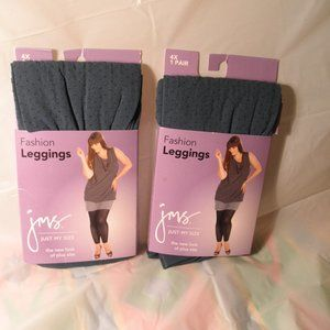 (LOT OF 2) JUST MY SIZE FASHION LEGGINGS 4X PLUS